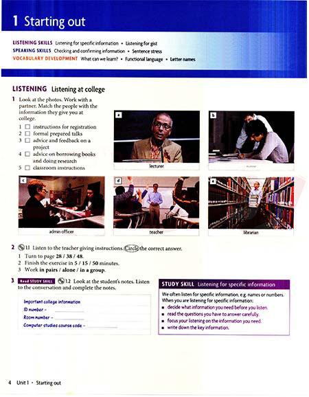 کتاب Headway Academic Skills level 1 (Listening,Speaking)