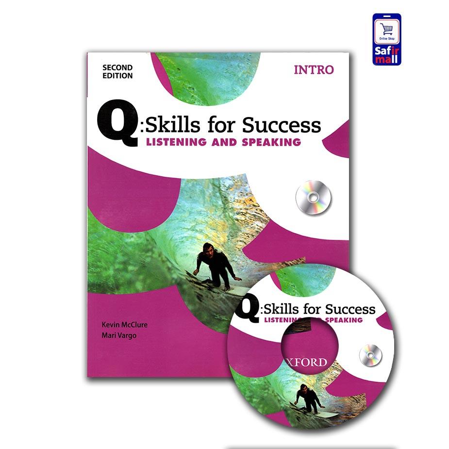 کتاب کیو اسکیل Q skills for success listening and speaking Intro