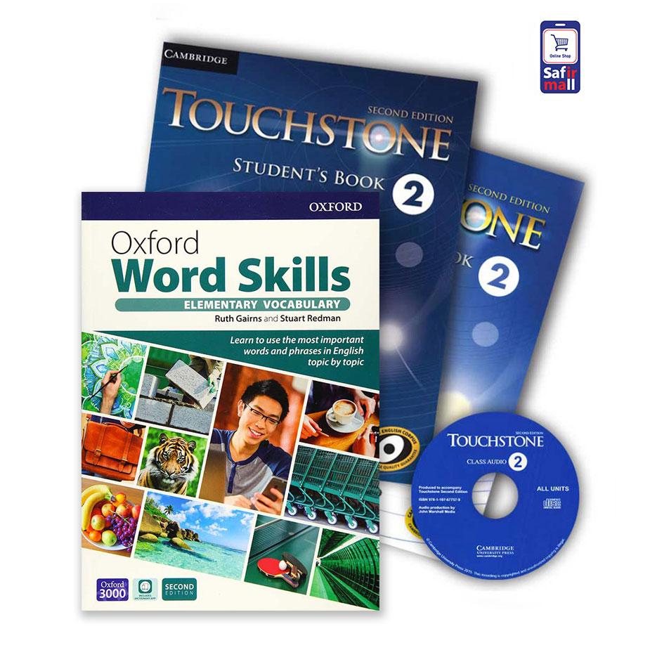 Touchstone 2 + Oxford Word Skills Basic – پک تاچ استون 2 و ورد اسکیلز