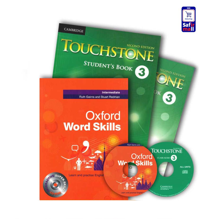 Touchstone 3 + Oxford Word Skills Intermediate – پک تاچ استون 3 و ورد اسکیلز